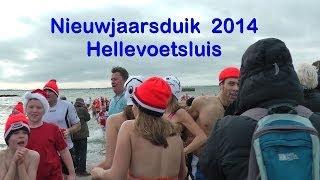 Nieuwjaarsduik 2014 – Hellevoetsluis (with subtitles EN/NL)