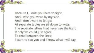 Chris de Burgh - Separate Tables Lyrics