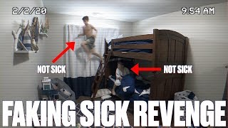 ULTIMATE FAKING SICK TO SKIP SCHOOL BACKFIRE! KARMA CAUGHT ON HIDDEN CAMERA | PARENTS' REVENGE