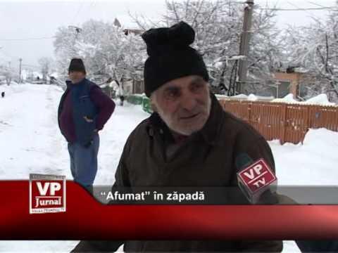 """""""Afumat"""" în zăpadă"""