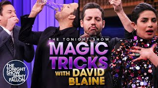Tonight Show Magic Tricks with David Blaine