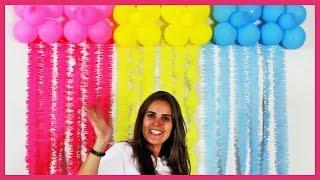Neste vídeo você aprende passo a passo como fazer uma decoração de parede super barata e fácil para sua festa! É uma linda cortina feita com papel crepom e balões! www.amofestas.com www.facebook.com/amofestas