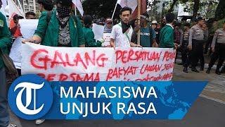 Massa GMNI dan FMN Gelar Unjuk Rasa Tuntut Tuntaskan Kasus Kebakaran Hutan