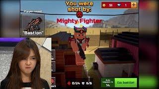 Asian Teen (ME) RAGES Because Of Godmode Hacker In Pixel Gun 3D