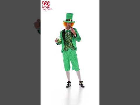 Disfraz adulto Duende San Patrick.