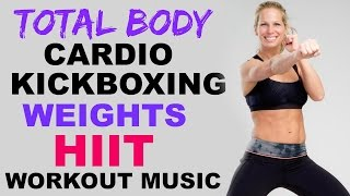 Kickboxing Cardio + Weights HIIT Interval Workout, 30 Minute Cardio Kickboxing Workout to burn fat by Shelly Dose Fitness
