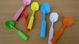 How To Make A Paper Spoon - Easy Tutorials