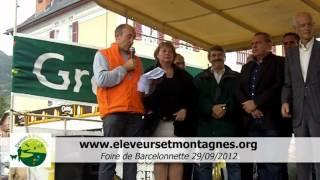 preview picture of video 'Yves DERBEZ  Éleveurs et Montagnes à la foire de Barcelonnette septembre 2012'