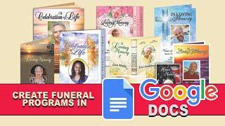 Google Docs Funeral Program Template - Free Online Tool