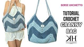 TUTORIAL BORSA UNCINETTO GRANNY BAG - Crochet Pattern ● Katy Handmade