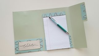 File Folder Notebook Holder -- Tutorial