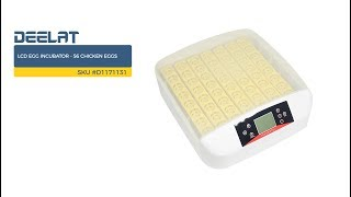 LCD Egg Incubator - 56 Chicken Eggs     SKU #D1171131
