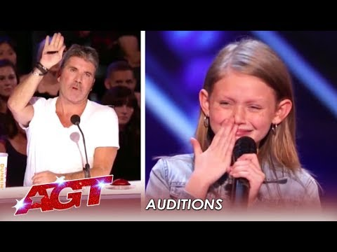 Ansley Burns: 11-Year-Old FIGHTS On After Simon Stops Her! | America's Got Talent 2019 (видео)