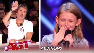 Ansley Burns: 11-Year-Old FIGHTS On After Simon Stops Her! | America's Got Talent 2019