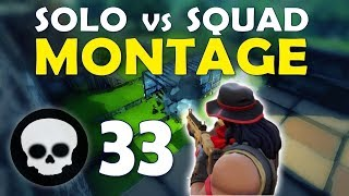 33 KILL SOLO SQUAD MONTAGE | DAEQUAN TIPS TO BECOME A YOUTUBER  STREAMER   (Fortnite Battle Royale