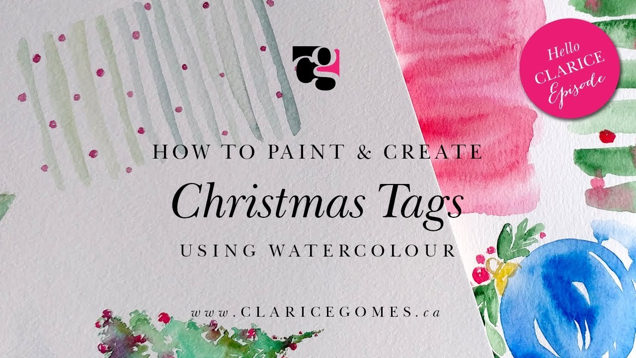 How to paint & create Christmas tags