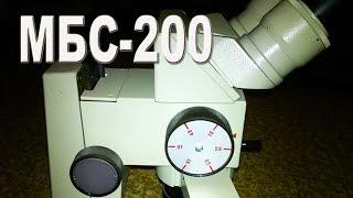 Микроскоп МБС-200. Сделано в СССР