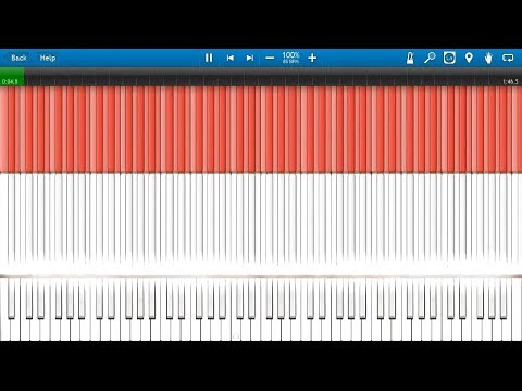 Indonesia Flag Midi Art (synthesia) Lndonesia Raya