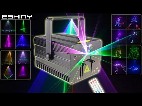 DJ RGB лазерный проектор с анимацией ESHINY G1N8 laser projector with animation