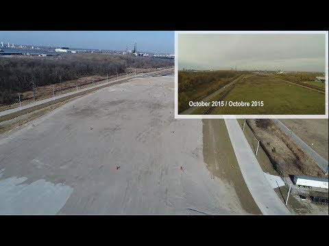 Flyover of the Canadian POE at the Gordie Howe International Bridge – March 26, 2018