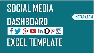 Social Media Dashboard - Free Excel Template to report Social Media metrics