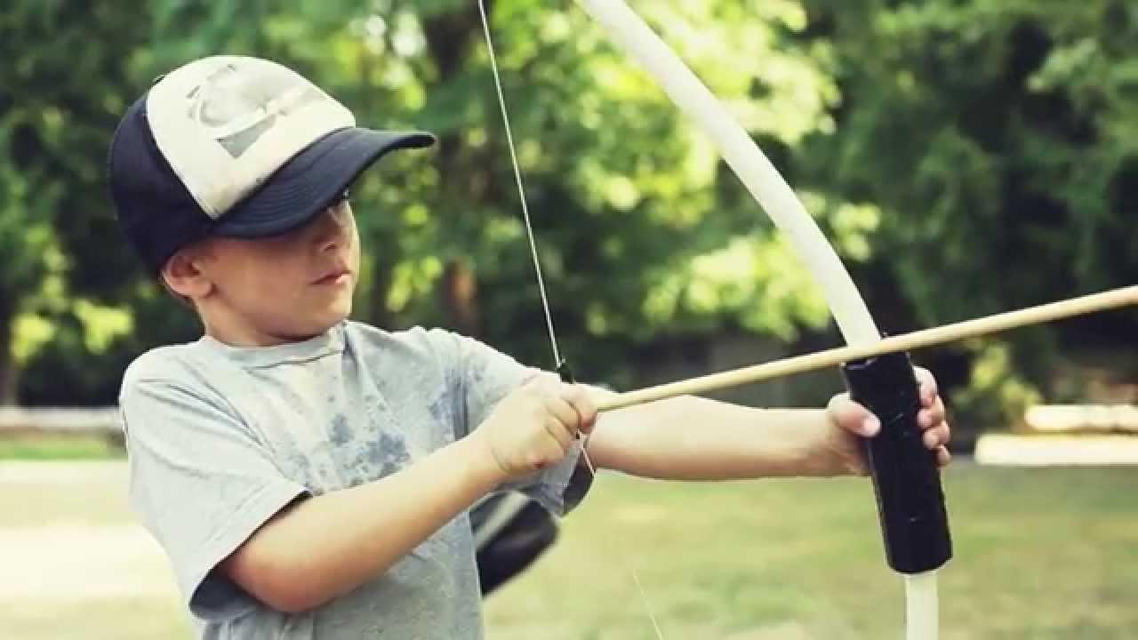 Diy bow and arrow for kids how to make bow arrow dunn diy for Kids pvc bow