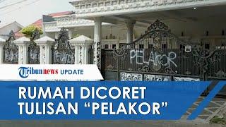 Video Viral Rumah Mewah di Palembang Dicoret Tulisan Pelakor, Ketua RT Ungkap Kejadian yang Terjadi