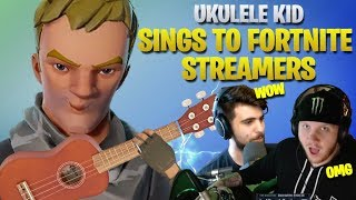 Cutest Kid On Fortnite Sings To Top Fortnite Streamers - Part 2 (Fortnite Battle Royale)