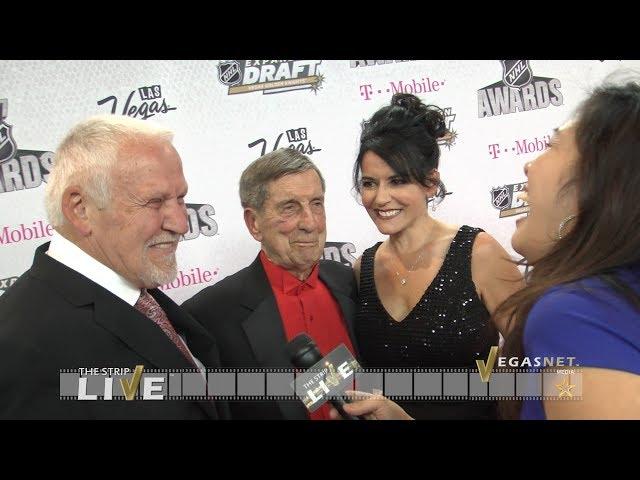 Bernie Parent, Gini Gramaglia Parent, Ted Lindsay (showcase)