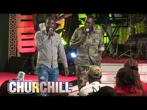 Hilarious: Dj Shiti makes an appearance on Churchill Show