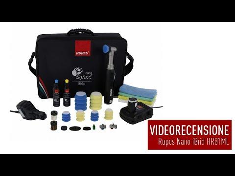 Unboxing e Videorecensione Lucidatrice a Batteria Rupes Nano iBrid by Solodettagli