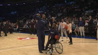 Alonzo Mourning At The 2K Empire Classic To Promote Disability Awareness