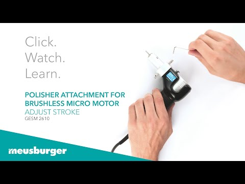 GESM 2610 polisher attachment for brushless micro motor - zdjęcie