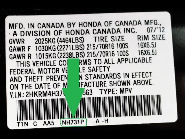 How to Find Your HONDA Paint Code