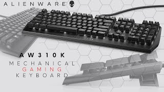 YouTube Video 8T3FEyBWO3I for Product Dell Alienware Mechanical Gaming Keyboards AW510K, AW310K by Company Dell in Industry Peripheral