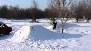preview picture of video 'BP snow 4 (Bike park Želiezovce 2011)'