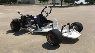 Homemade Racing Go Kart (Shifter Kart Frame) Build