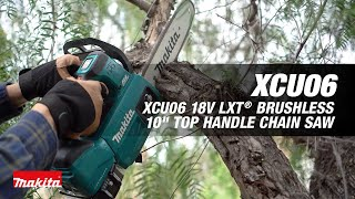 "MAKITA 18V LXT® Brushless 10"" Top Handle Chain Saw - Thumbnail"