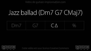 Jazz ballad (Dm7 G7 CMaj7) : Backing track