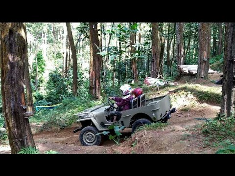 TEST DRIVE MINI JEEP WILLYS 4X4 HOMEMADE