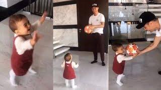 'Play Ball' Cristiano Ronaldo play's the ball with Daughter Alana