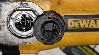 Как поставить переключатель режимов на перфоратор DeWalt D 25123