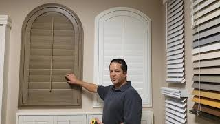 How to Measure for a Louvered Arched Shutter