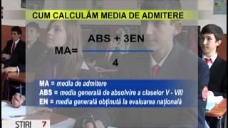 CUM SE CALCULEAZA MEDIA DE ADMITERE