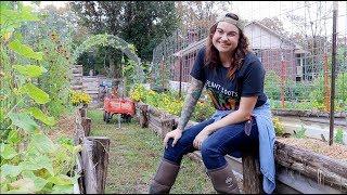 FULL Fall Garden Tour | Raised Bed Vertical Vegetable Garden | Roots And Refuge Farm
