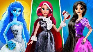 14 DIY Barbie Doll Hacks and Crafts / Disney Princesses Halloween Ideas