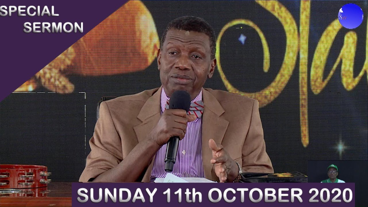 RCCG Sunday Service 11th October 2020 by Pastor E. A. Adeboye - Livestream