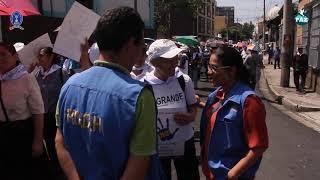 PDDH verifica marcha para exigir pronta aprobación Ley General de Agua