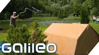 Festival-Zelt aus Pappe - Kann das funktionieren? | Galileo | ProSieben