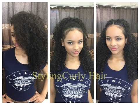 , title : '6 quick and simple ways to style curly hair! | Sayria Jade'
